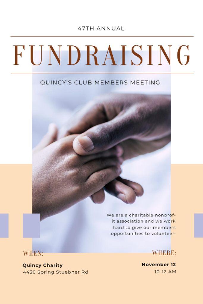 Szablon projektu Fundraising Meeting Supporting Hand Tumblr