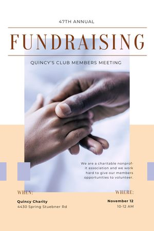 Fundraising Meeting Supporting Hand Tumblr tervezősablon