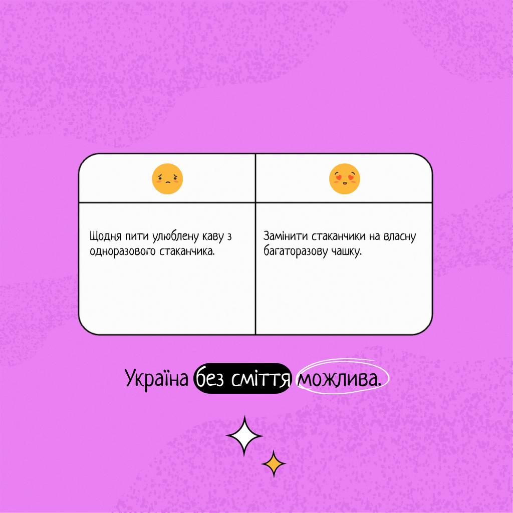 Eco lifestyle Motivation with Emoji Instagram Design Template