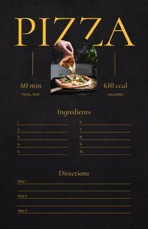 Modèle de visuel Delicious Pizza Cooking Steps - Recipe Card
