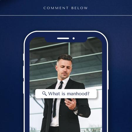 Modèle de visuel Manhood Inspiration with Confident Businessman - Instagram