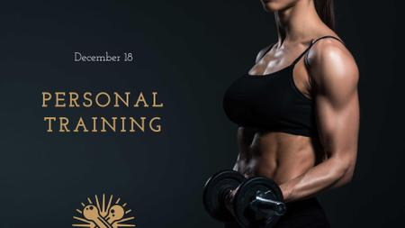 Designvorlage Personal Training Offer with Athlete Woman für FB event cover