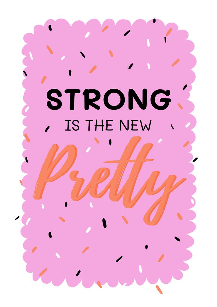 Plantilla de diseño de Inspirational Citation about Girl Power Poster
