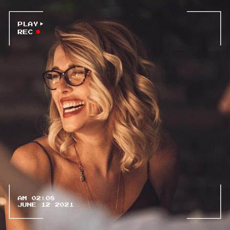 Happy Beautiful Smiling Woman Instagram – шаблон для дизайну