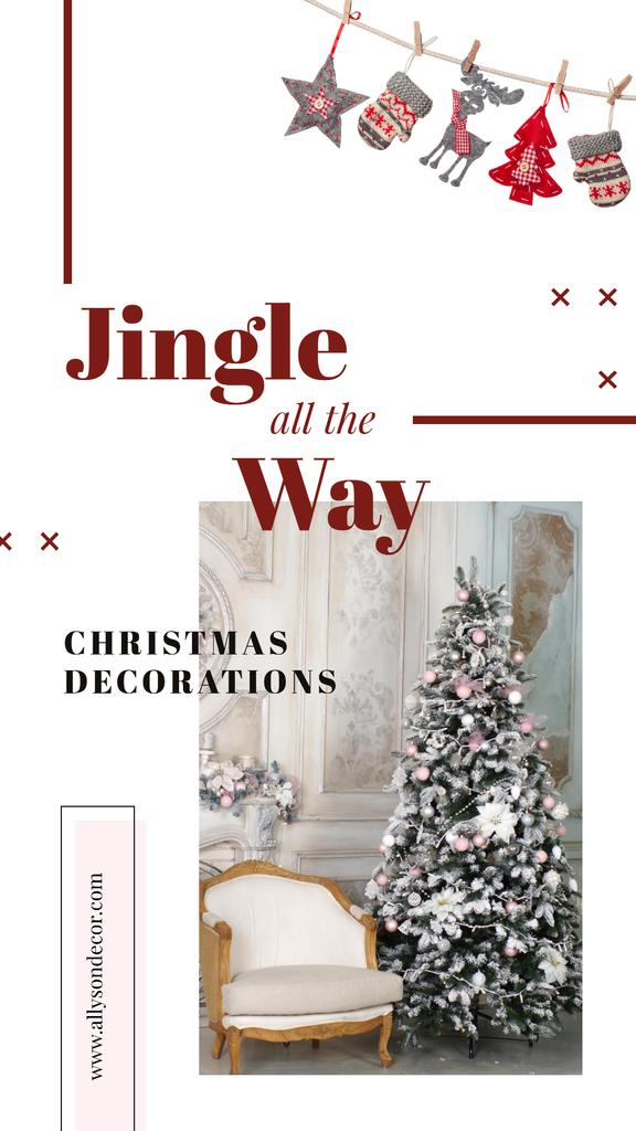 Decorated Christmas tree — Crear un diseño