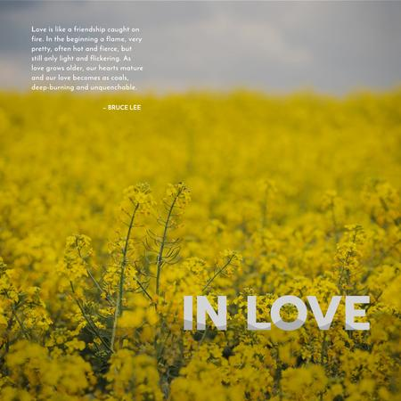 Template di design Yellow rape field with quotation Instagram