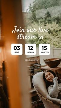 Live Stream Ad with Woman in Cozy Armchair