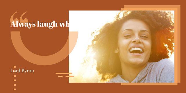 Happy smiling woman Image Modelo de Design