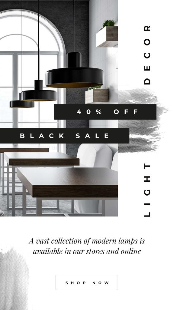Black Friday Sale Lamps in modern interior — Crear un diseño