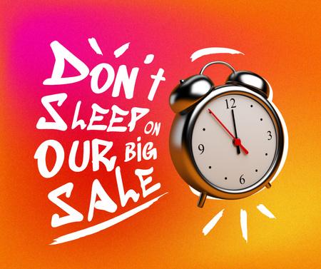 Sale Announcement with Alarm Clock Facebook – шаблон для дизайна