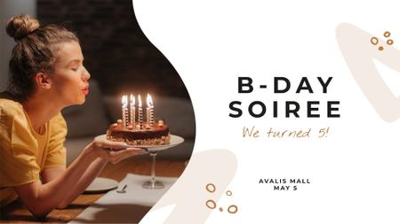 Company Birthday celebration FB event cover Tasarım Şablonu