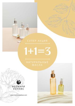 Natural Oils Special Offer Poster – шаблон для дизайна