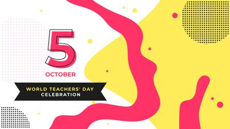 Template di design World Teacher's Day Celebration Announcement FB event cover