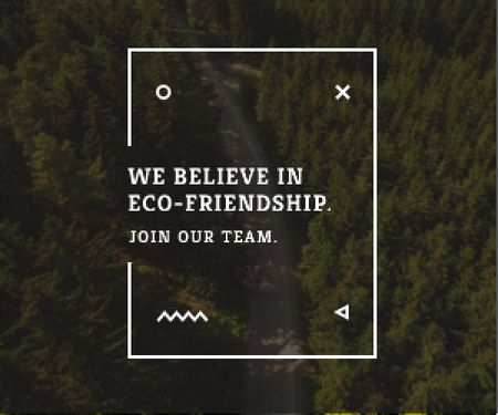 Ontwerpsjabloon van Medium Rectangle van Eco-friendship concept