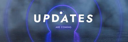 Mobile App Updates Announcement Twitter Modelo de Design