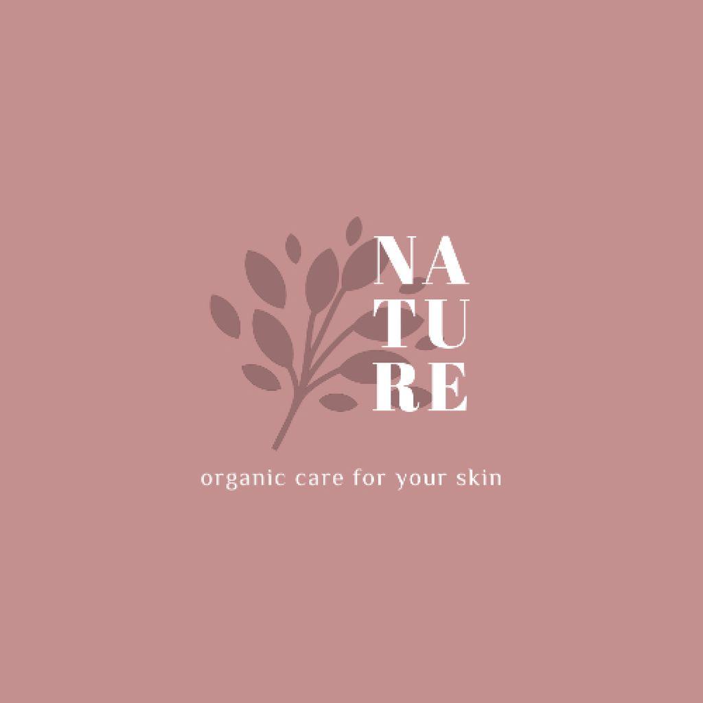 Skincare Ad with Plant Leaves in Pink — Crea un design