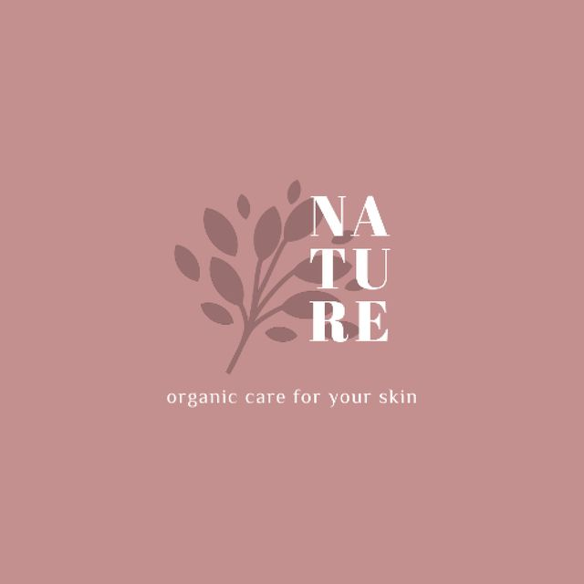 Designvorlage Skincare Ad with Plant Leaves in Pink für Animated Logo