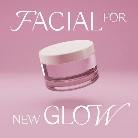 Skincare Ad with Facial Cream Animated Post – шаблон для дизайна