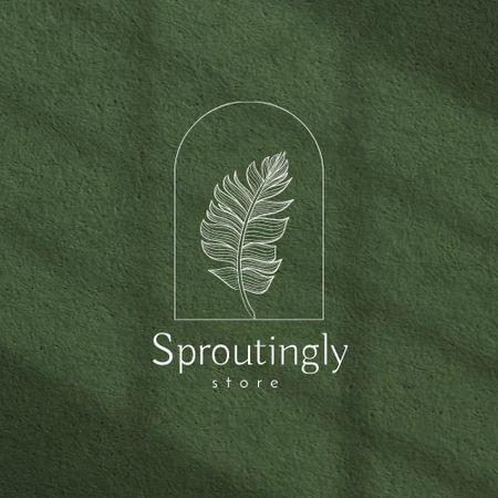 Plants Store Offer with Leaf Illustration Logo – шаблон для дизайну