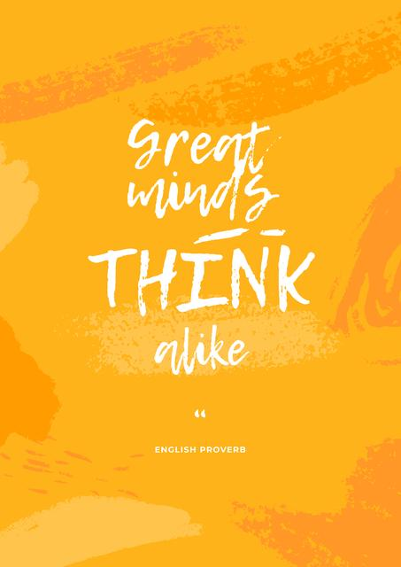 Great Minds quote Poster Modelo de Design