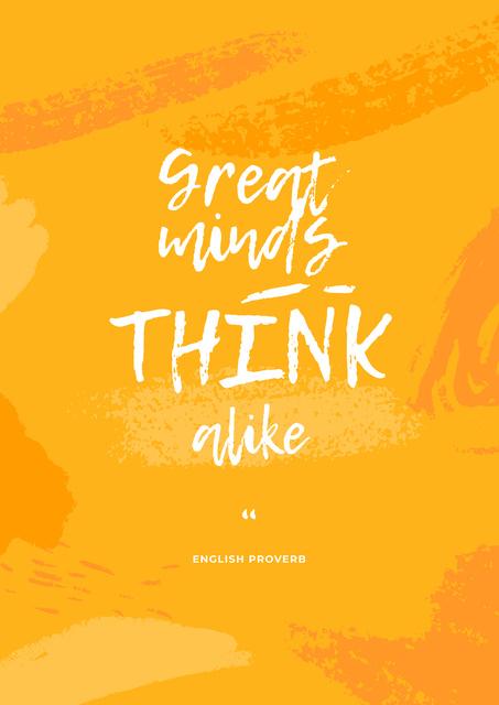 Modèle de visuel Great Minds quote - Poster