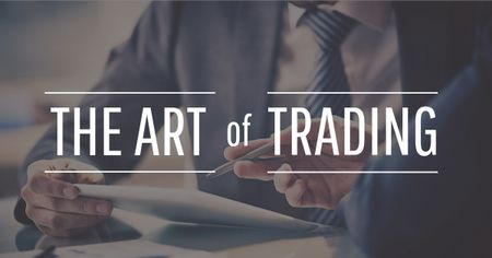 Art of trading with Businessmen Facebook AD Modelo de Design
