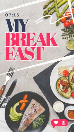 Modèle de visuel Healthy Breakfast with Avocado - Instagram Story