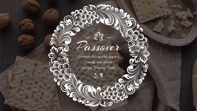 Plantilla de diseño de Happy Passover Unleavened Bread and Nuts Full HD video