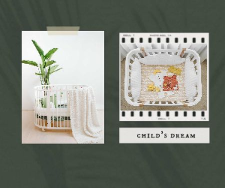 Cute Child's Cots Sale Offer Medium Rectangle Πρότυπο σχεδίασης
