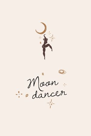 Moon Dancer silhouette Tumblr Modelo de Design