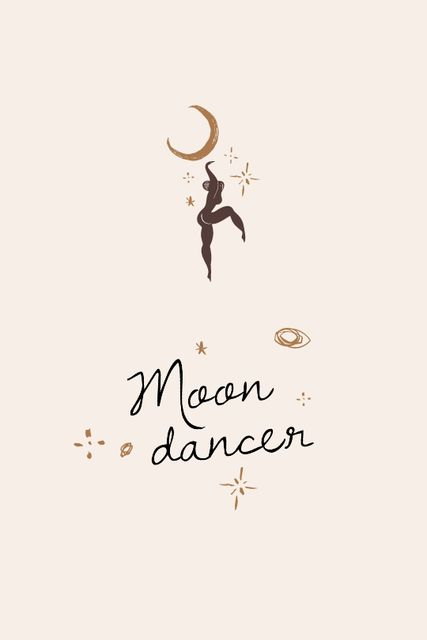 Modèle de visuel Moon Dancer silhouette - Tumblr