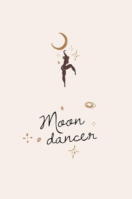 Moon Dancer silhouette Tumblr Modelo de Design