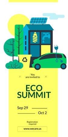 Modèle de visuel Eco Summit concept with Sustainable Technologies - Graphic