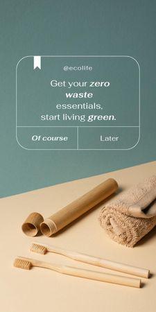 Modèle de visuel Zero Waste Concept with Wooden Toothbrushes - Graphic