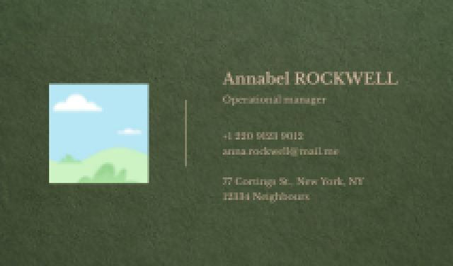 Operational Manager contacts Business card Tasarım Şablonu