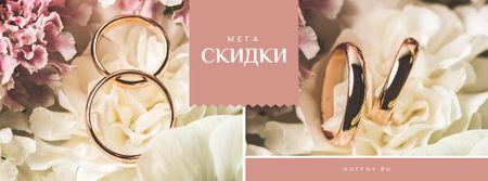 Wedding Offer Rings on Flower Facebook cover – шаблон для дизайна