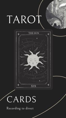Tarot Card with Sun Illustration Instagram Story – шаблон для дизайна