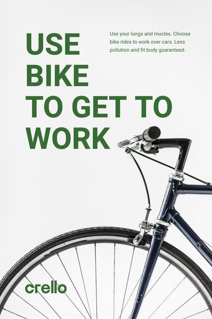 Ecological Bike to Work Concept Pinterest – шаблон для дизайна