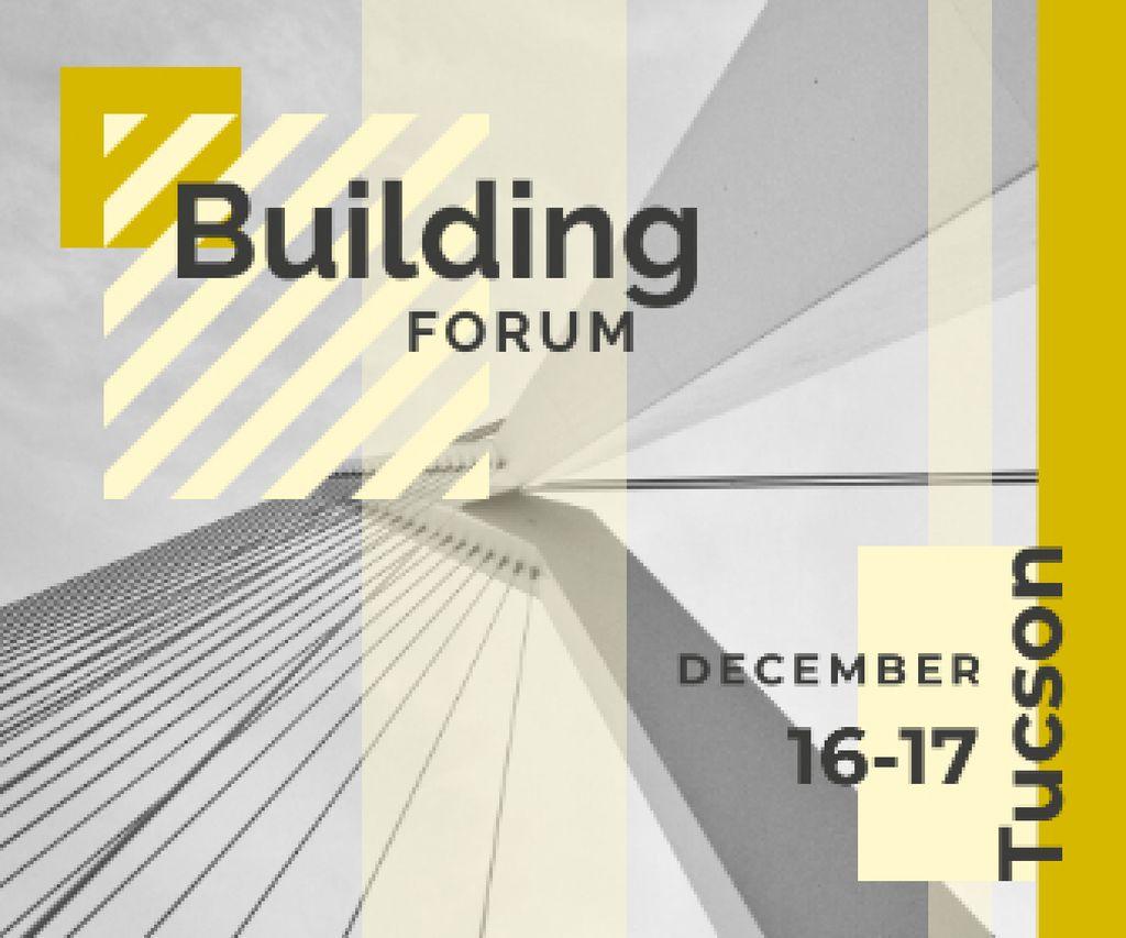 Building Forum Announcement Modern Glass Building Large Rectangle Modelo de Design