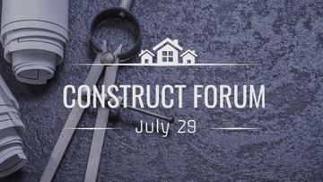 Construct Forum Announcement with House Blueprints