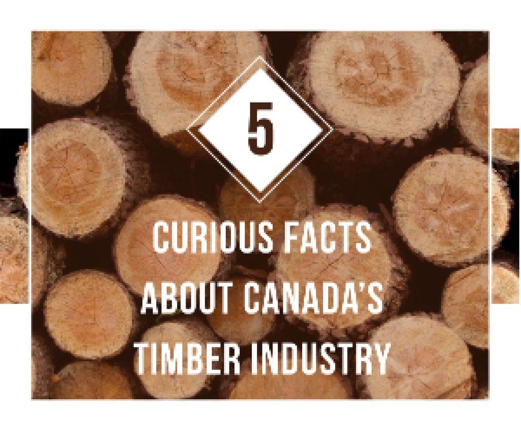 Timber Facts Pile of Wooden Logs Medium Rectangle Modelo de Design