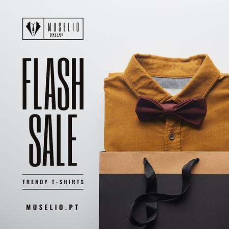 Plantilla de diseño de Male Fashion Store Sale Shirt with Tie Instagram