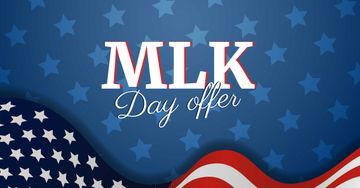 MLK Day Offer with American Flag
