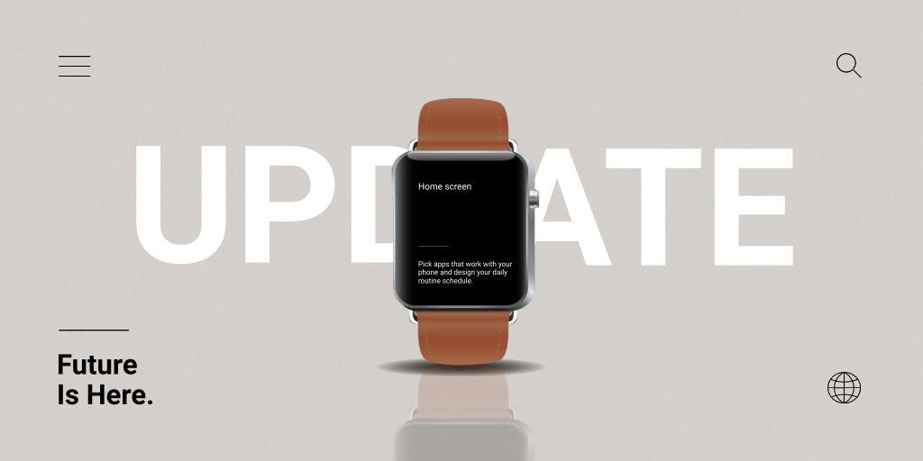 Smart Watches Updates Ad Twitter – шаблон для дизайну