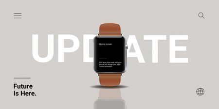 Smart Watches Updates Ad Twitter Design Template
