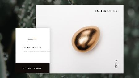 Plantilla de diseño de Golden Easter egg Full HD video