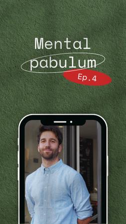 Podcast Topic Announcement with Confident Man Instagram Video Story Modelo de Design