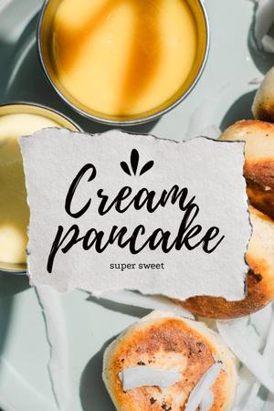 Sweet Creamy Pancakes Pinterest – шаблон для дизайна