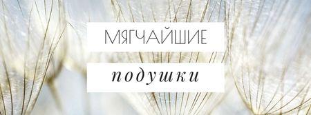 Softest Pillows Ad Tender Dandelion Seeds Facebook cover – шаблон для дизайна