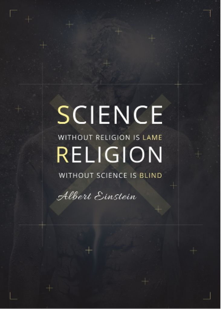 Religion Quote with Human Image Invitation Design Template